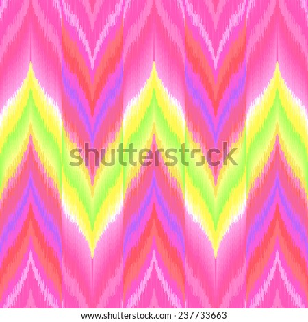 Colorful zigzag print for textile, wallpaper, card. Ikat seamless pattern. Abstract vector illustration for wallpaper, textile, wrapping paper. - stock vector