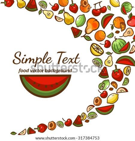 Colorfull fruit pattern background,vector illustration for your design. - stock vector