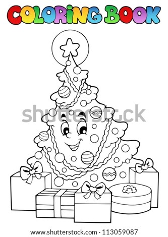 Coloring book Christmas thematics 2 - vector illustration. - stock vector