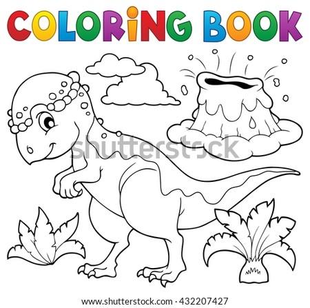 Coloring book dinosaur topic 5 - eps10 vector illustration. - stock vector