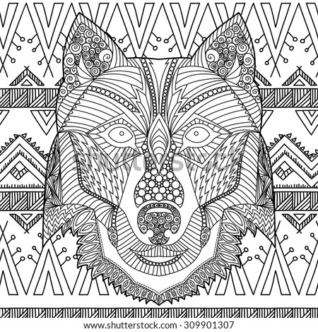 indian and wolf coloring pages - photo#26