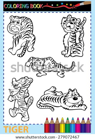 coloring book pages vector illustration - stock vector
