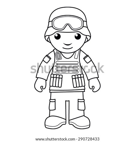 Coloring Page Vector Illustration Of A Black And White
