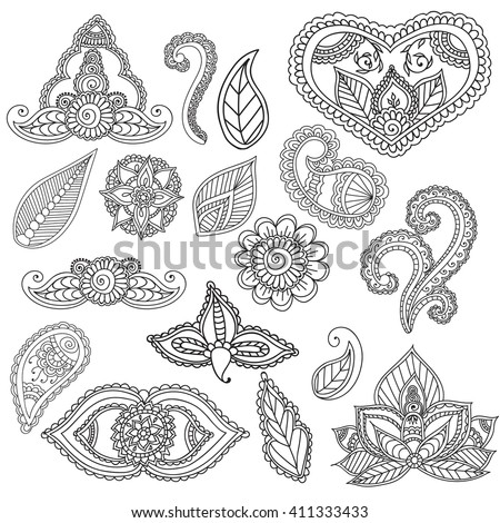 Mehndi design coloring pages coloring pages for Henna coloring pages