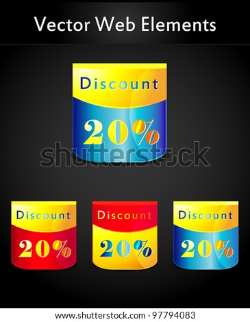 Colour collection of design element - stock vector