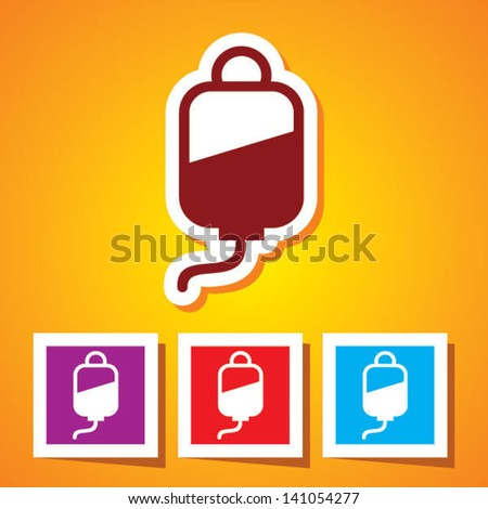 Colourful editable icon of Blood Donation - stock vector