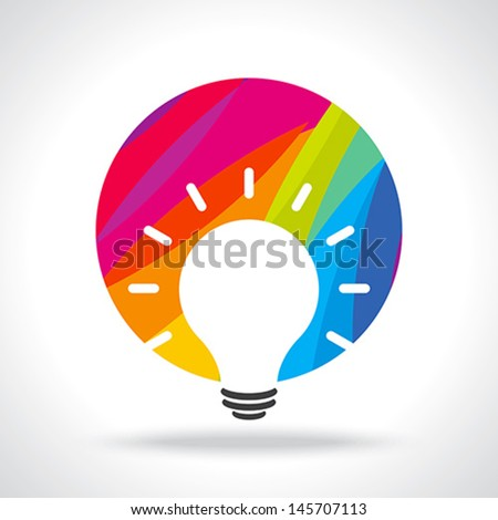colourful idea  - stock vector