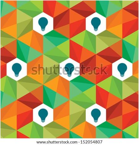 colourful pattern idea - stock vector