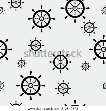 Columbus day or marine pattern - stock vector