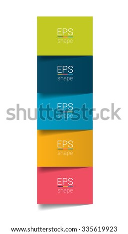 Colummn 5 step by step chart. Infographic flat tab. - stock vector