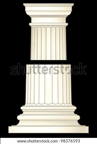 column classic style - stock vector