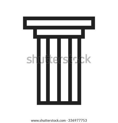 Columns, pillars, courthouse icon vector image.Can also be used for building and landmarks . Suitable for mobile apps, web apps and print media. - stock vector