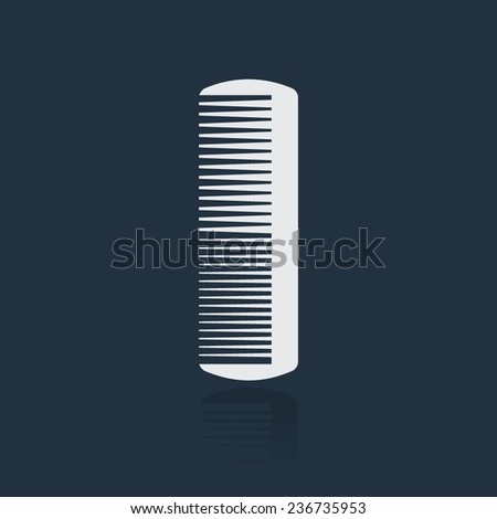 Comb vector icon - stock vector