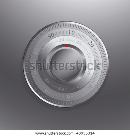 Combination lock of a safe - stock vector
