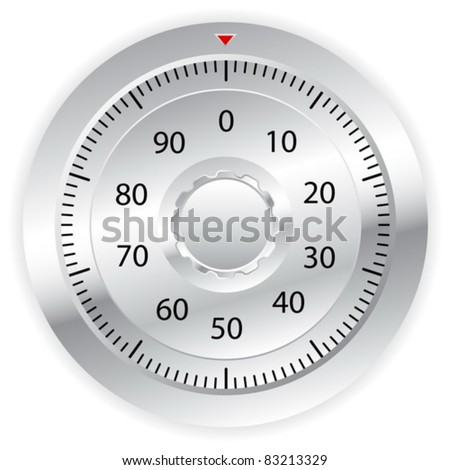 Combination lock on white background. Vector illustration. - stock vector