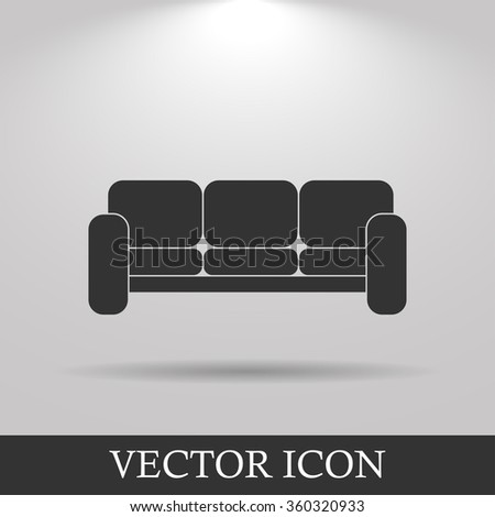 Comfortable sofa Icons. Flat design style eps 10 - stock vector