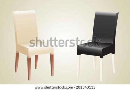 Comfortable trendy chairs. - stock vector