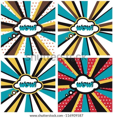 Comic backgrounds Pop Art - stock vector