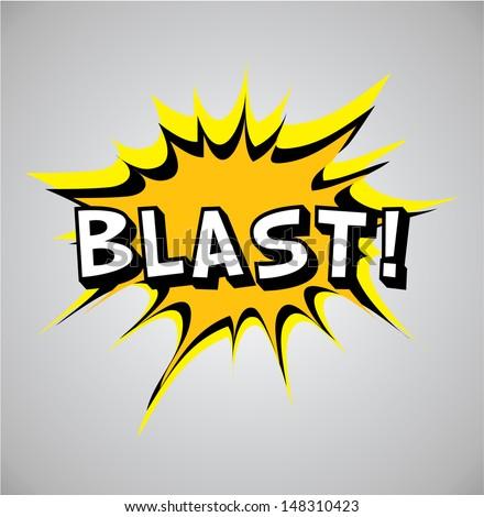 Comic book explosion bubble, vector illustration, blast  - stock vector