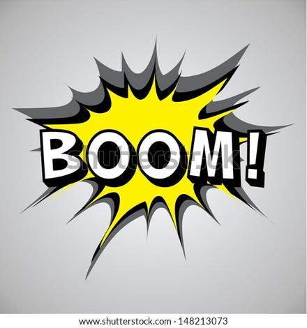 Comic book explosion bubble, vector illustration, boom - stock vector