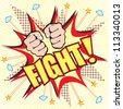 Comic Book Fight Explosion vector - stock vector