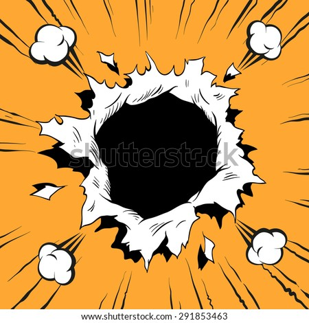 Comic book hole, vector illustration - stock vector