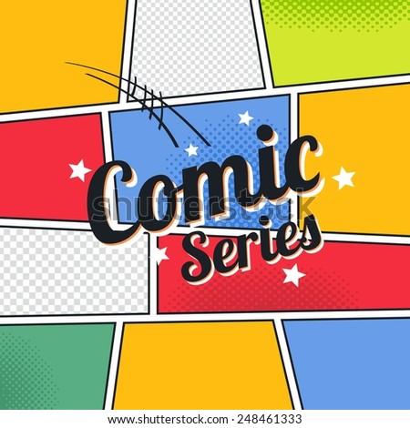 comic book template series - stock vector