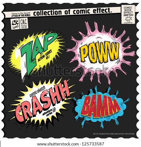 comic book words effect collection - stock vector