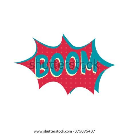 comic boom explosion - stock vector