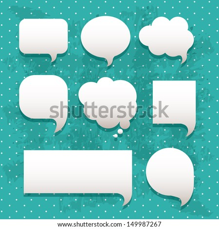 comic icons over dotted background vector illustration - stock vector