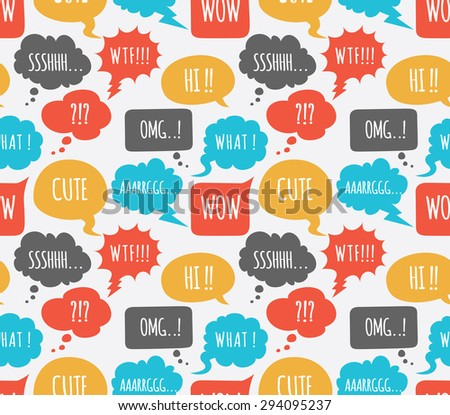 comic speech bubble background - stock vector