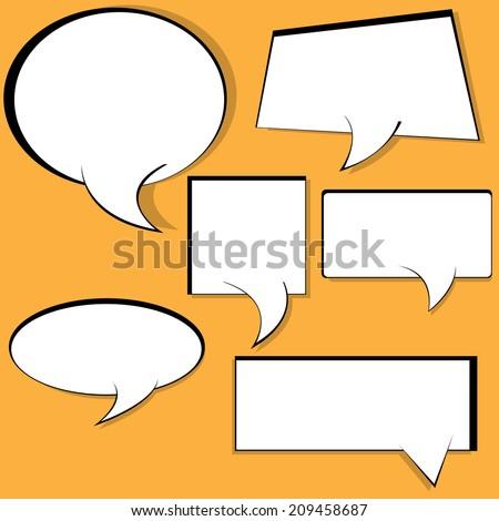 Comic Speech Bubbles cartoon - stock vector