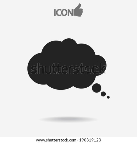 comic speech bubbles icon, vector illustration. Flat design style - stock vector