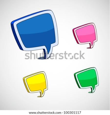 Comic style speech bubbles collection - stock vector