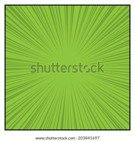Comics Color Radial Speed Lines graphic effects. Vector illustration - stock vector
