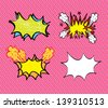 comics icons over pink background vector illustration - stock vector