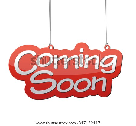coming soon, red vector coming soon, red tag coming soon, background coming soon, illustration coming soon, element coming soon, sign coming soon, design coming soon, picture coming soon - stock vector