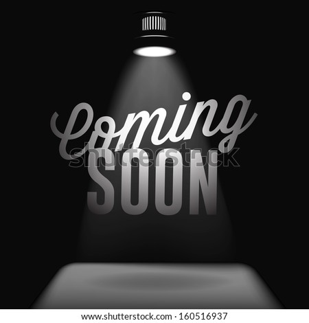 Coming soon, sale poster, vector  image  - stock vector