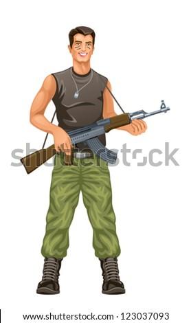 Commando - stock vector