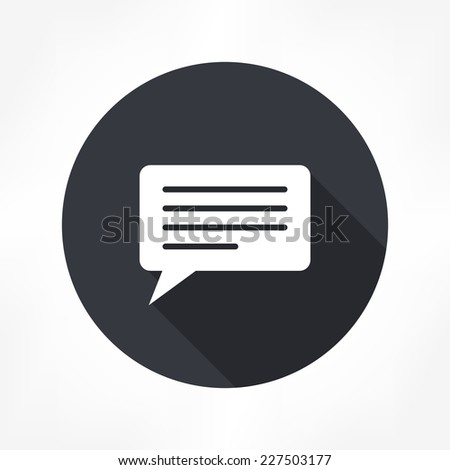 comment icon - stock vector