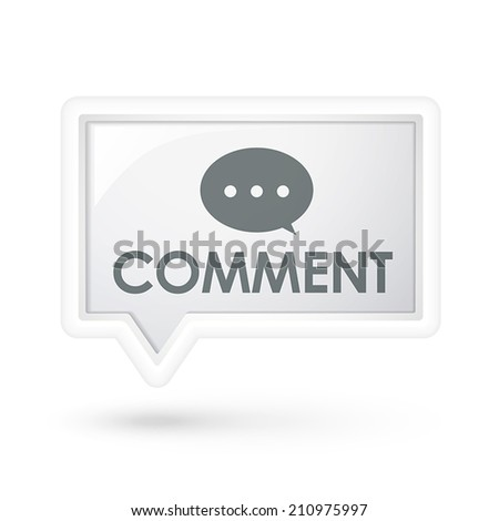 comment word on a speech bubble over white - stock vector