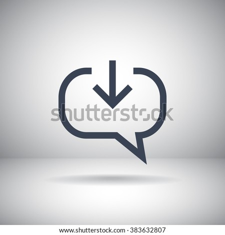 comments received, chat icon - stock vector