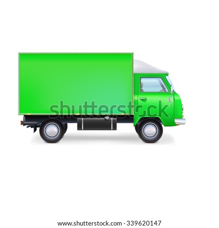 Commercial delivery, cargo truck, full editable vector illustration eps10 - stock vector