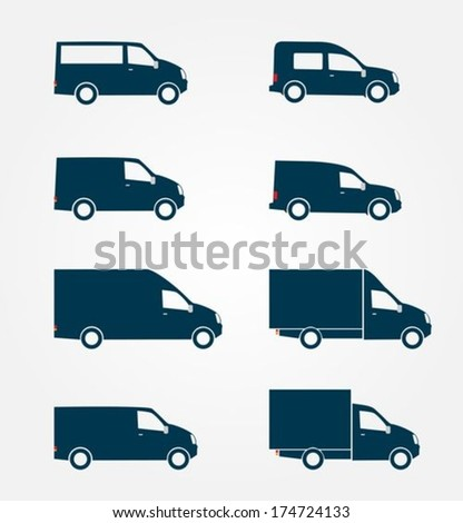 Commercial Truck icon  - stock vector