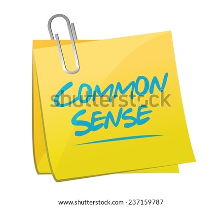 common sense memo post illustration design over a white background - stock vector