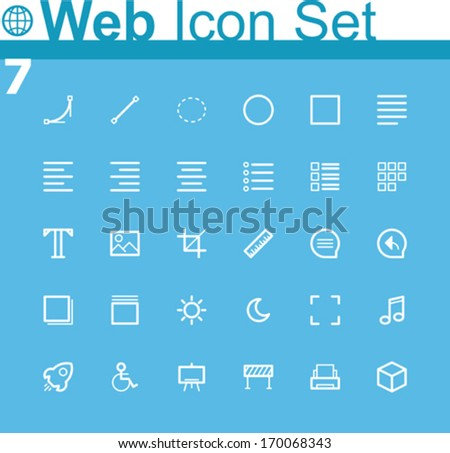 Common web icons - stock vector