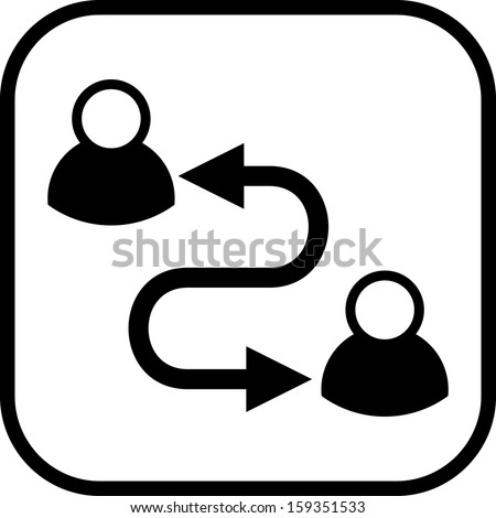 Communication between people vector icon - stock vector
