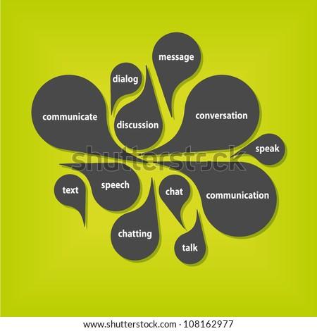 communication bubbles - stock vector