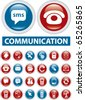 communication buttons. vector - stock vector