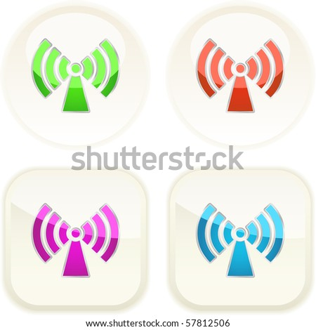 Communication buttons . Vector set. - stock vector